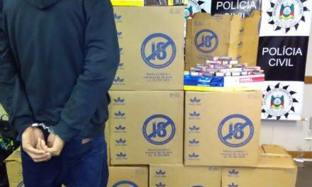 Polícia Civil prende dois suspeitos por roubo de carga de cigarro