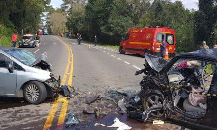 Duas pessoas morrem em acidente na BR-470