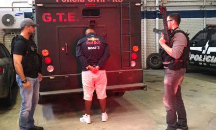 Polícia prende suspeito de envolvimento em grupo de assaltos a banco
