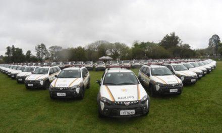 Secretaria de Segurança Pública entrega mais de 100 viaturas à Brigada Militar