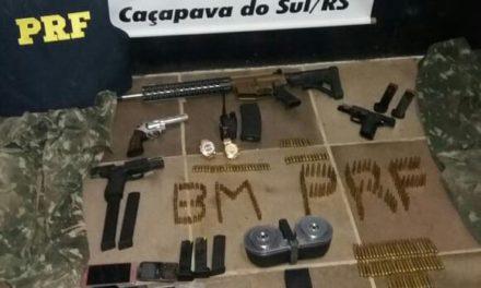 PRF prende oito integrantes de quadrilha em Caçapava do Sul