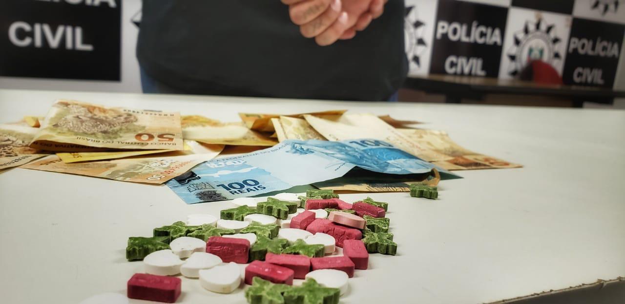Polícia prende suspeito de tráfico de drogas em Alvorada