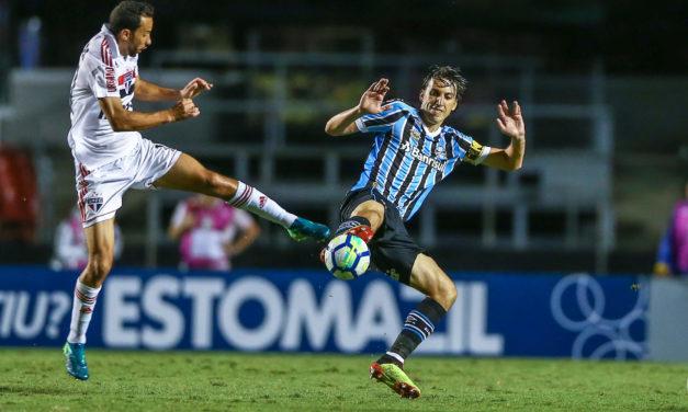 Pendurados são preocupação no Grêmio