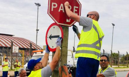 Ação educativa alerta sobre vandalismo na sinalização viária