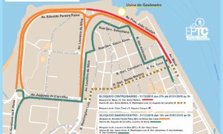 Festa de Réveillon causa mudanças no trânsito da Capital