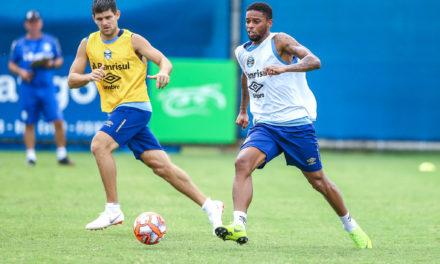 Marinho e André treinaram no terceiro time do Grêmio