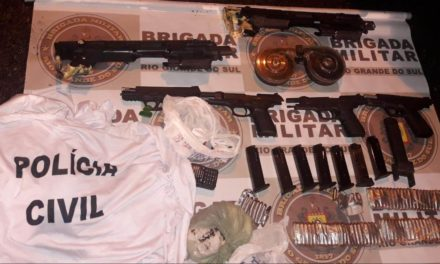 Brigada Militar apreende armas no bairro Bom Jesus
