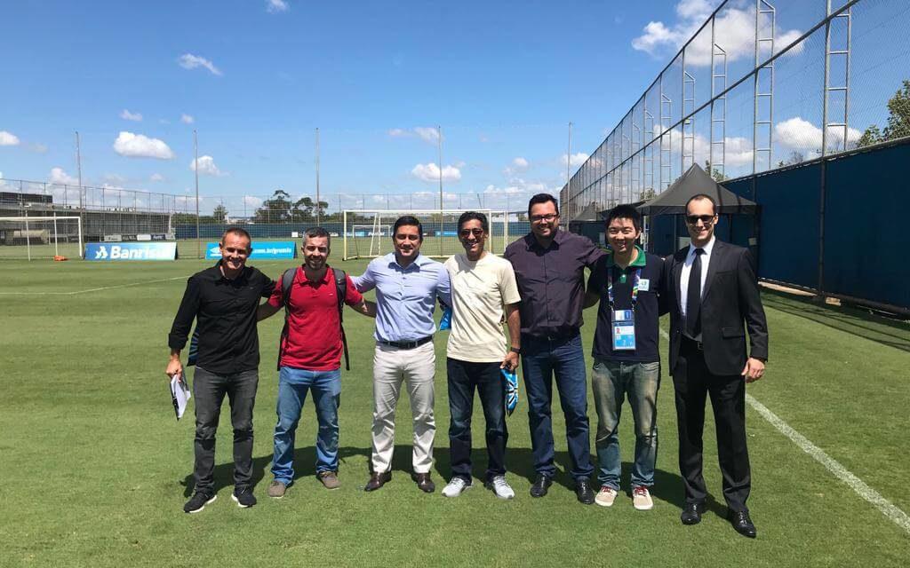 Representante da Seleção do Catar faz visita no CT do Grêmio