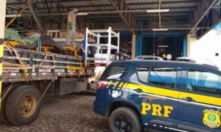 Ação conjunta da Brigada e da PRF recupera veículos roubados