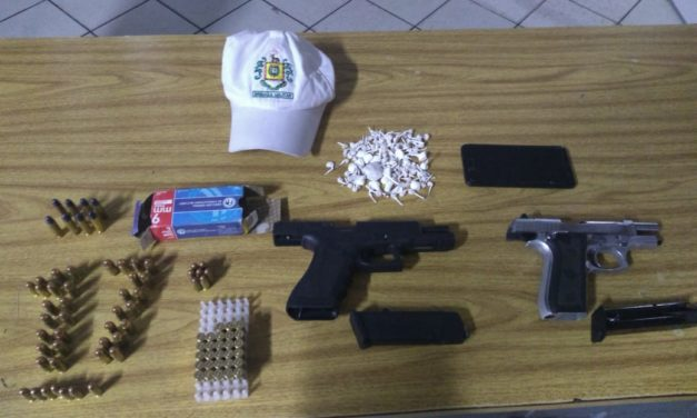 BM apreende armas, munições e drogas em Gravataí